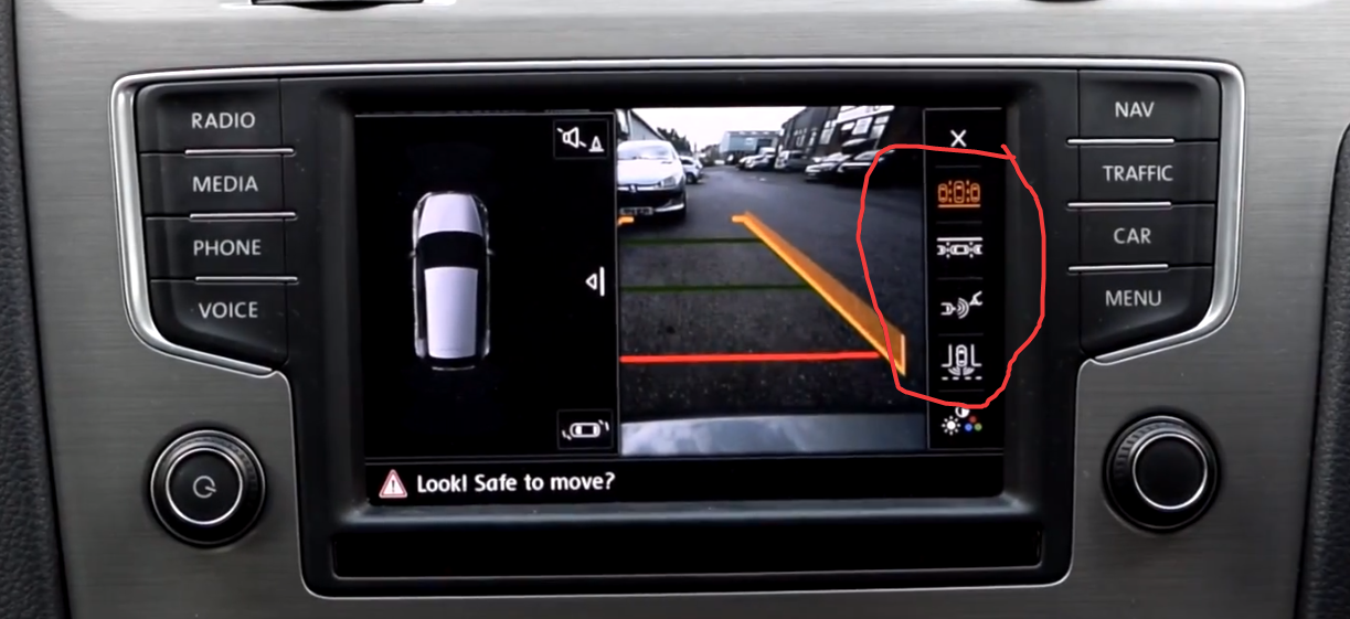 Anyone fitted a highline reversing camera? - GOLFMK7 - VW